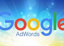 Google Adwords shining blue