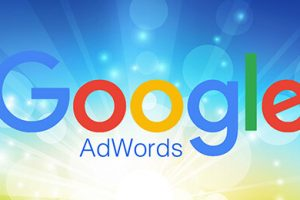 Google Adwords shining blue